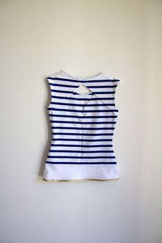 T-shirt Belladone, Jersey marinière. Chez By Sandra's hand.