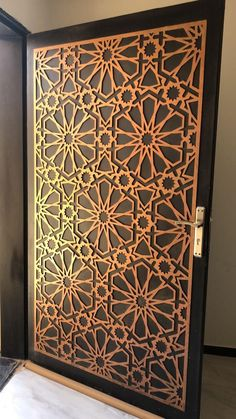 Cnc Door Design Modern 36 New Ideas Wooden Main Door Design, Door Gate Design, Jaali Design, Tor Design, Cnc Cutting Design, Plafond Design, Decorative Panels, Wooden Doors, Modern Design