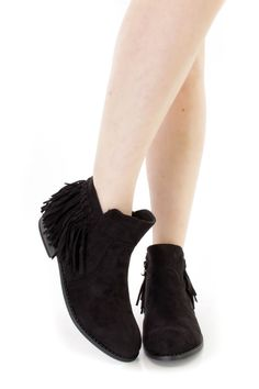 Be casual and cute in these one of a kind booties, featuring a faux leather upper, side inner closure, stitching detail,  smooth lining, cushioned footbed,