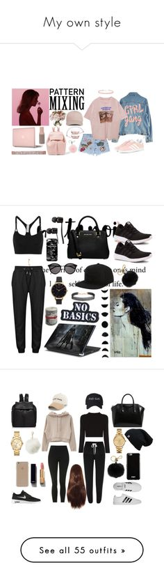 """""""My own style"""" by rowanadow ❤ liked on Polyvore featuring Michael Kors, Mansur Gavriel, Miss Selfridge, High Heels Suicide, MadeWorn, Incase, adidas Originals, Natural Life, Present Time and adidas"""
