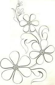 Adult coloring page Hand Embroidery Patterns, Applique Patterns, Beading Patterns, Flower Patterns, Embroidery Stitches, Flower Embroidery, Painting Patterns, Fabric Painting, Motif Art Deco