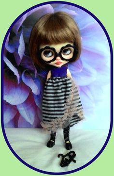 Lovely 5 pieces Blythe doll outfit, dress, shoe, sock, eyeglasses, dress hanger  http://www.ebay.co.uk/itm/-/262706474397