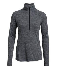 Look at this Black Twist Mileage Half-Zip Pullover Half Zip Pullover, That Look, Athletic, Jackets, Stuff To Buy, Black, Fashion, Down Jackets, Moda