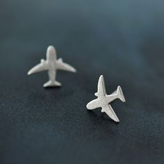 Fashion Korea Chic Brushed Simple Aircraft/Plane Lady Party Stud Earring Jewelry