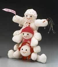 Snowman Totem Pole | FaveCrafts.com