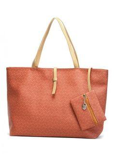 Orange Fashion Satchels Bag With Bow $51.00