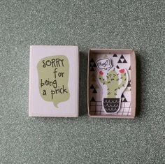Miniature matchbox  ♡ ♡