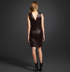 Leather Dress - Kenneth Cole Collection