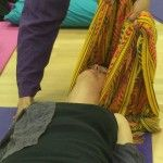 I can't tell you how blissful this Rebozo head massage was! Just amazing!