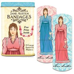 Jane Austen band aids. Too bad that they can't be put on your broken heart