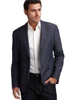 hugo james blue black plaid sport coat - Google Search