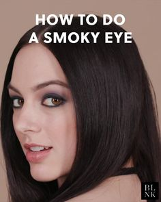 """""""A smoldering smoky eye is a classic going-out look but it can be straight-up intimidating if you've never tried it. Our makeup artist's best advice? Palette: Kevyn Aucoin Beauty Emphasize Eye Design Palette in Magnify Model: Smokey Eye Makeup, Skin Makeup, Eyeshadow Makeup, Beauty Make-up, Beauty Hacks, Hair Beauty, Beauty Tips, Make Up Looks, Model Makeup Tutorial"""
