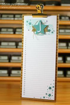 Stampin' Up Frühjahrskatalog 2014, Stampin Up Sale a bration 2015, Stampin Up Projektset Kalenderkunst, Stampin Up Perpetual Birthday Calendar, Stampin Up Bestellen
