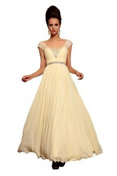 Kingmalls Womens cap sleeves V-neck beaded long champagne formal evening gowns bridesmaid dresses (Large) Kingmalls,http://www.amazon.com/dp/B00B0DGD2K/ref=cm_sw_r_pi_dp_r72zrb2D3E224A9C
