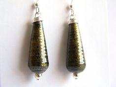 Paper Bead Jewelry - Earrings - #394