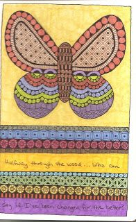 Susan Sauls' Art Pages: Butterfly Journal Pages