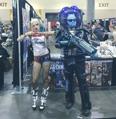 Suicide Squad Harley Quinn & Mr. Freeze Cosplay