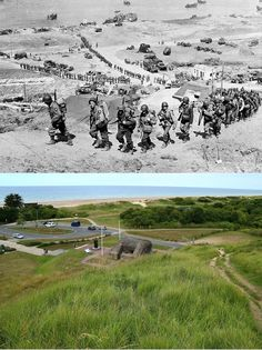 Omaha Beach 1944-2015 - Argunners Argunners Then and Now Pictures