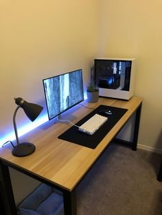 First build Ive attempted. I have some art for the walls on the way. Home Recording Studio Setup, Home Studio Setup, Home Office Setup, Home Office Design, Computer Desk Setup, Gaming Room Setup, Gaming Computer, Small Game Rooms, Bedroom Setup