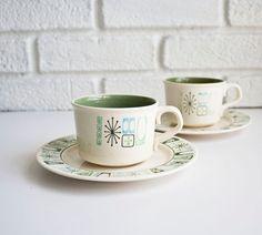 Vintage atomic cup & saucer set.