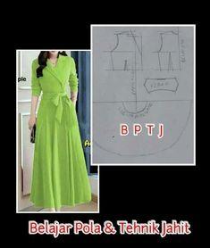 Long Dress Patterns, Modern Hanbok, Wooly Hats, Abaya Fashion, Sewing Clothes, Pattern Making, Fasion, Designer Dresses, Sewing Patterns