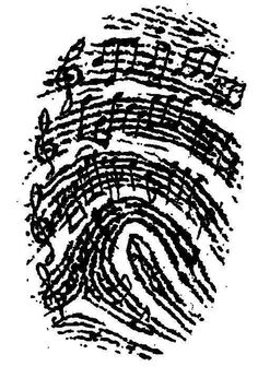 Music as Identity – for junior high and college, too! It would be awesome to use someone you love's fingerprint and notes from a song that makes you think of them, incorporated into a tattoo… Tatoo Musical, Music Tattoos, Tatoos, Music Lover Tattoo, Foot Tattoos, Flower Tattoos, Tribal Tattoos, Sleeve Tattoos, Music Education