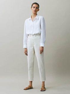 ДЖИНСЫ С ШИРОКИМИ ШТАНИНАМИ - для женщин - Massimo Dutti Jeans Straight Leg, Wide Leg Jeans, Linen Trousers, Trousers Women, Jeans Women, Urban Outfitters, Jeans Rock, Women's Jeans, Elegant Outfit