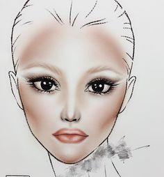 #facechart#makeup Facechart Makeup, Face Charts, Makeup Style, Instagram Posts, Inspiration, Drawings, Biblical Inspiration, Face Sketch, Inspirational