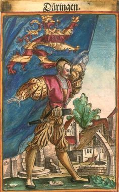 "Thüringen [Düringen] (f°??) -- Koebel, Jacob, ""Wapen des heyligen römischen Reichs teutscher Nation"", Franckfurth am Main, 1545 [BSB Ms. Rar. 2155]"