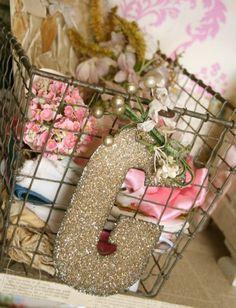 Pam Garrison's craft room shelving with locker basket storage