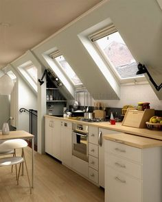 Attic Kitchens: Pros and Cons of Cooking in the Rafters | The Kitchn
