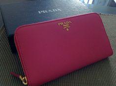 Prada Saffiano Wallet in Peony on Pinterest | Prada, Wallets and ...