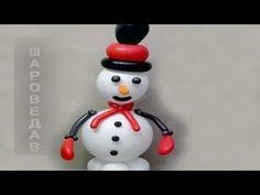 Снеговик из шаров / Snowman of the balloons.