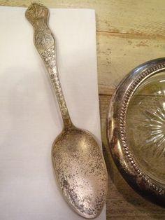 銀製品アンティークシルバースプーンカトラリーUSAエンブレム Antique cutlery ¥1600yen 〆04月10日