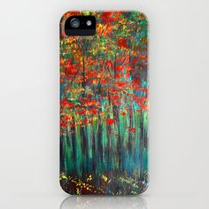 Forest Abstract iPhone & iPod Case by Maggs326 - $35.00
