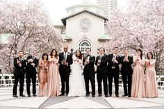 Botanical garden wedding covered in cherry blossoms: http://www.stylemepretty.com/2014/07/10/botanical-garden-wedding-covered-in-cherry-blossoms/ | Photography: http://www.photopinwk.com/