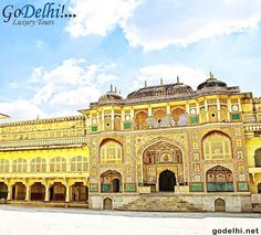 The Amer Fort was built in red sandstone and marble and the Maotha Lake adds a certain charm to the entire Fort. http://www.godelhi.net/ #JaipurSightseeing , #JaipurTour