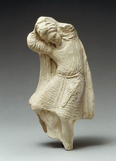 Terracotta statuette of a dancing youth. Early Hellenistic, 3rd century B.C. Cypriot. The Metropolitan Museum of Art, New York. The Cesnola Collection, Purchased by subscription, 1874–76 (74.51.1710) #dance