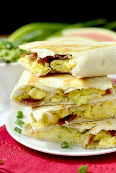 Breakfast Quesadillas | iowagirleats.com #breakfast #recipe