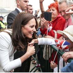 The Duchess greeting locals during the first day of #RoyalTourPoland