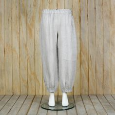 Lagenlook Linen Petticoat Ankle Length Pants