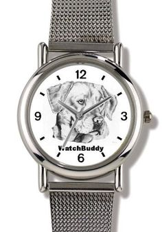 Labrador Retriever - Yellow (SC) Dog - WATCHBUDDY® ELITE Chrome-Plated Metal Alloy Watch with Metal Mesh Strap-Size-Small ( Children's Size - Boy's Size & Girl's Size ) WatchBuddy. $79.95