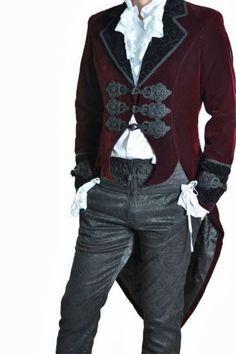 Roter-Samtfrack-Casanova-Gothic-Victorian-Jacket-von-Punk-Rave