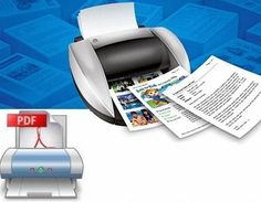 Download this free software, that prints all documents, and image files into PDF format.