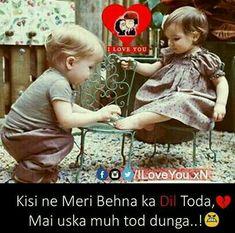 Aww so cute 😍 😘 love you bhai Cute Love, Love You, Baseball Cards, Siblings, Happy, Sports, Hs Sports, Te Amo, Je T'aime