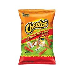 Cheetos Crunchy Flamin' Hot Limon Cheese Flavored Snacks 9.5 oz ($20) ❤ liked on Polyvore featuring food