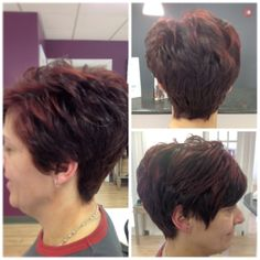 Short hair design. Cut and Color by Imana Hair Studio.