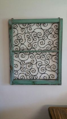 Old wooden window frames with barbed wire lace design made from upcycled recycled reclaimed barbed wire. by The Rusty Ringneck Barbed Wire Art in Hill City, KS Shipping available. www.therustyringneckbarbedwireart.com. Follow us on Facebook and Twitter.