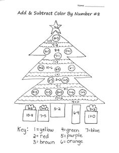 math worksheet : color by numbers numbers and christmas on pinterest : Christmas Addition And Subtraction Worksheets