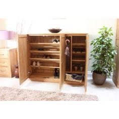 mobel oak extra large oak shoe cupboard baumhaus mobel solid oak extra large shoe